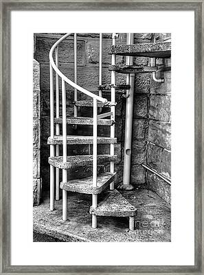 Spiral Steps - Old Sandstone Church Framed Print by Kaye Menner