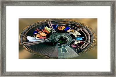 Spiral Washline Framed Print by Wayne King