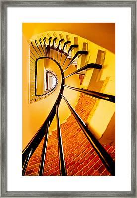 Spirals In Yellow Framed Print by Jaroslaw Blaminsky