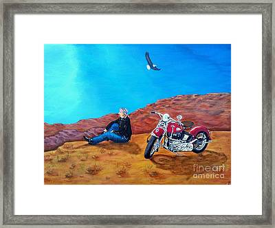 Spirit Eagle Framed Print by John Lyes