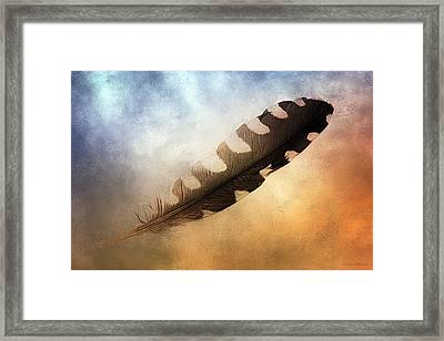 Spirit Feather Framed Print by Melissa Bittinger