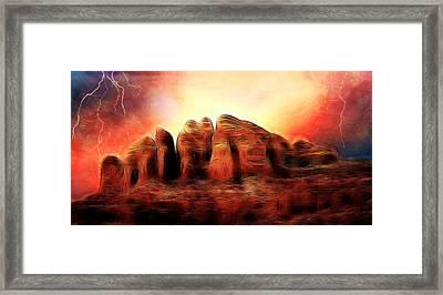 Spirit Mountain Framed Print by Ellen Heaverlo