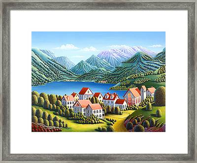 Spirit Mountains Framed Print by Andy Russell