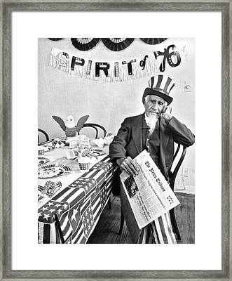 Dejected Spirit Of 76 Framed Print by Underwood Archives