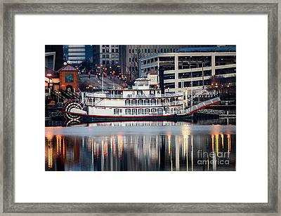 Spirit Of Peoria Riverboat Framed Print by Paul Velgos