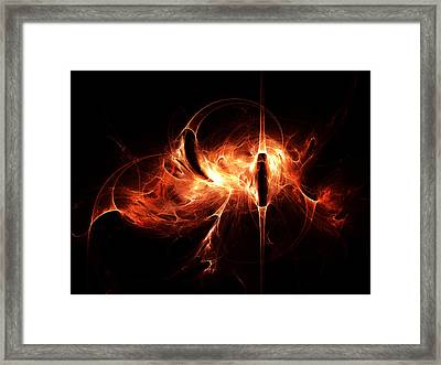 Spirit Of The Flame Framed Print by Peter Chasse