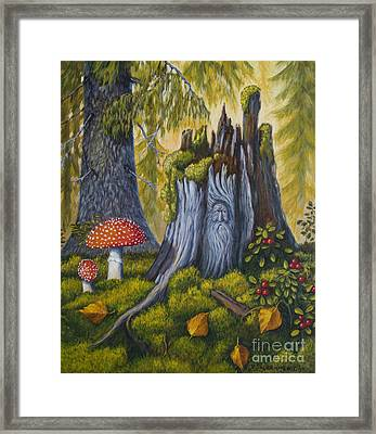 Spirit Of The Forest Framed Print by Veikko Suikkanen
