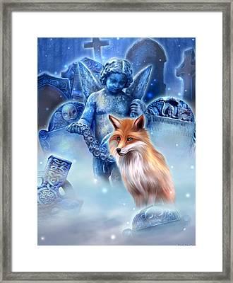Spirit Of The Fox Framed Print by Kerri Ann Crau