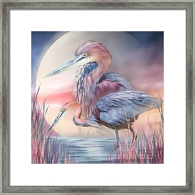 Spirit Of The Heron Framed Print by Carol Cavalaris