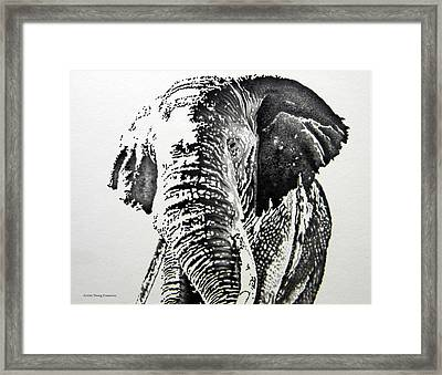Spirit Of The Serengeti Framed Print by Doug Comeau