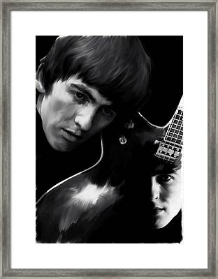 Spirit Play George Harrison Framed Print by Iconic Images Art Gallery David Pucciarelli