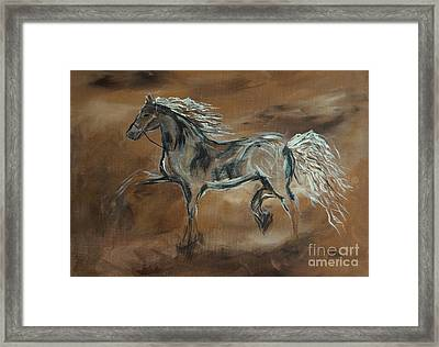 Spirited Framed Print by Leslie Allen