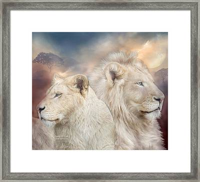 Spirits Of Light Framed Print by Carol Cavalaris