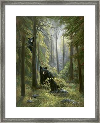 Spirits Of The Forest Framed Print by Lucie Bilodeau