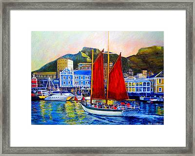 Spirit's Sunset Sail Framed Print by Michael Durst