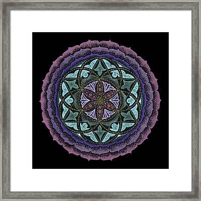 Spiritual Heart Framed Print by Keiko Katsuta