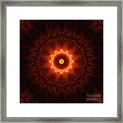 Spiritual Shield Framed Print by Hanza Turgul