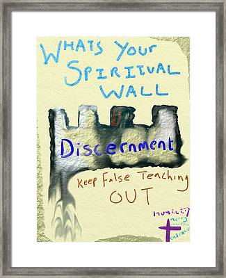 Spiritual Wall Framed Print by Michael Jordan