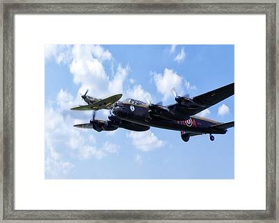 Spitfire Escort Framed Print by Peter Chilelli