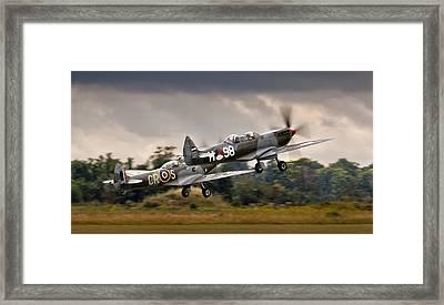 Spitfire Parade Framed Print by Alexis Birkill