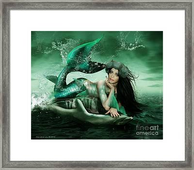 Splash Framed Print by Babette Van den Berg