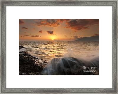 Splash Of Paradise Framed Print by Mike  Dawson