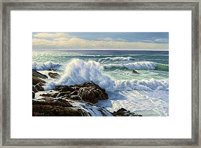 Splash Seascape Framed Print by Paul Krapf