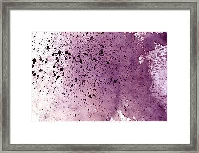 Splattering Red-gray Framed Print by Seb Mcnulty