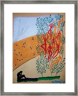 Splendid Grass Framed Print by Mike Manzi
