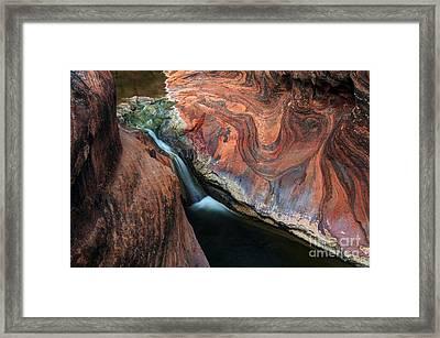 Splendor On Quail Creek Framed Print by Bob Christopher