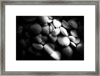 Split Peas Framed Print by Bob Orsillo