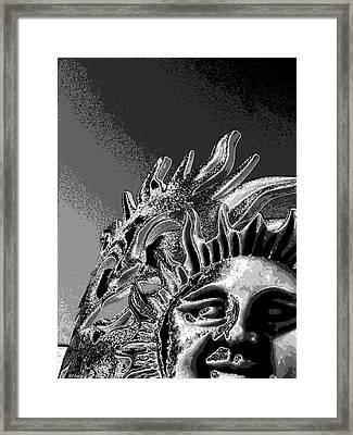 Split Persunality Framed Print by Rebecca Flaig