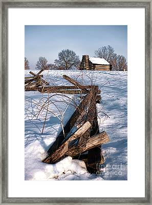 Split Rail And Nation Framed Print by Olivier Le Queinec