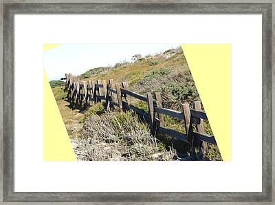 Split Rail Fence Yellow Framed Print by Barbara Snyder