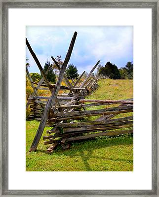 Split Rail Framed Print by Karen Wiles