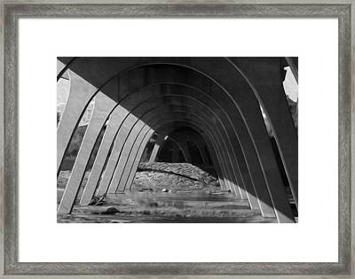 Split Shade Framed Print by Kelvin Booker