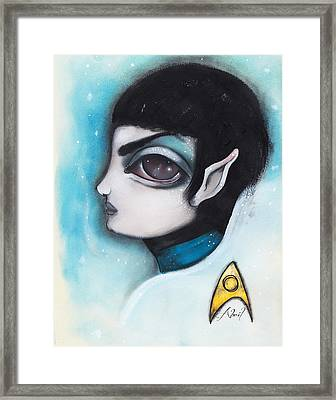 Spock Framed Print by  Abril Andrade Griffith