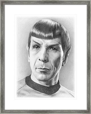 Spock - Fascinating Framed Print by Liz Molnar
