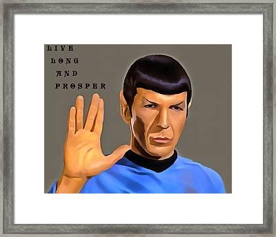 Spock Live Long Framed Print by Dan Sproul