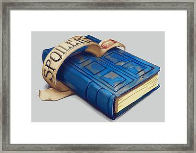 Spoilers- River Song's Tardis Journal Framed Print by Dorianne Dutrieux