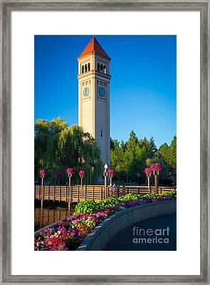 Spokane Clocktower Framed Print by Inge Johnsson