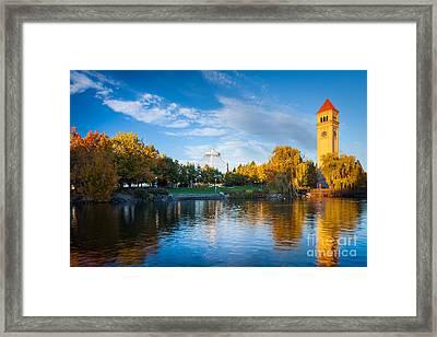 Spokane Reflections Framed Print by Inge Johnsson