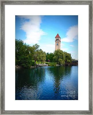 Spokane Riverfront Park Framed Print by Carol Groenen