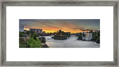 Spokane Sunrise Framed Print by Michael Gass