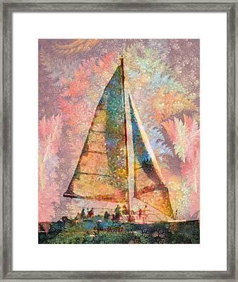 Spontaneity Paradise Nautical Visionary  Framed Print by Betsy Knapp