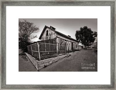 Spooky Chino Barn - 01 Framed Print by Gregory Dyer