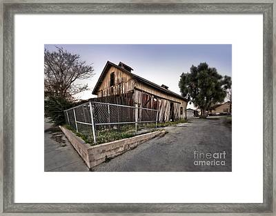 Spooky Chino Barn Framed Print by Gregory Dyer