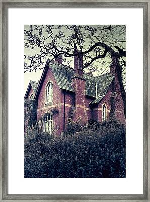 Spooky House Framed Print by Joana Kruse