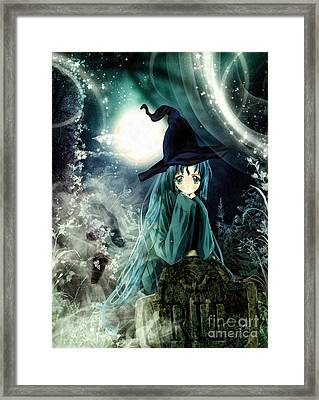 Spooky Night Framed Print by Mo T