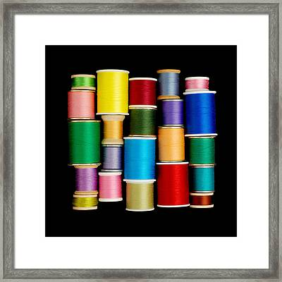 Spools Of Thread Framed Print by Jim Hughes